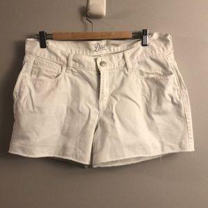 The diva white jean shorts